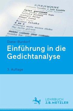 Einführung in die Gedichtanalyse (eBook, PDF) - Burdorf, Dieter