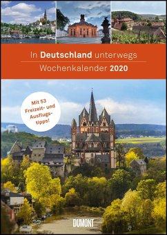 In Deutschland unterwegs Wochenkalender 2020 - Wandkalender - Format 21,0 x 29,7 cm