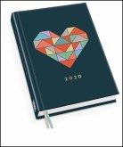 Taschenkalender »Herz« 2020 - Haferkorn & Sauerbrey - Terminplaner mit Wochenkalendarium