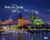 Köln bei Nacht 2020 - Wandkalender 52 x 42,5 cm - Spiralbindung