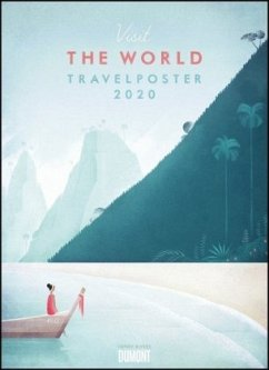 Travelposter 2020 - Reiseplakate-Kalender von DUMONT- Wand-Kalender - Poster-Format 49,5 x 68,5 cm - Rivers, Henry