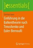 Einführung in die Balkentheorie nach Timoshenko und Euler-Bernoulli