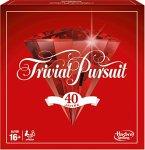 Hasbro E1923100 - rivial Pursuit 40 Jahre Jubiläumsausgabe, Familienspiel, Brettspiel, Rot
