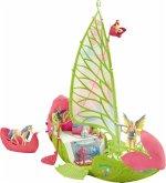 Schleich 42444 - Bayala Seras magisches Blütenboot, Spielfigur