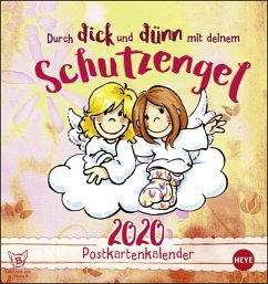 Schutzengel 2020 Postkartenkalender