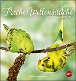Freche Wellensittiche 2020. Postkartenkalender