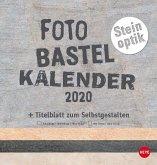 Bastelkalender Natur Steinoptik 2020