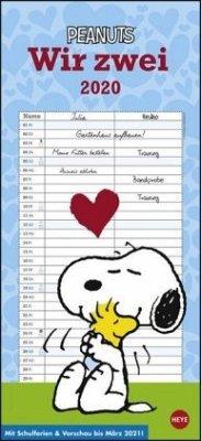 Peanuts Planer für zwei - Kalender 2020