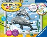 Ravensburger 28468 - Malen nach Zahlen, Freundliche Delfine