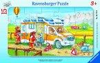 Ravensburger 06170 - Krankenwagen im Einsatz, Puzzle, Rahmenpuzzle, 15 Teile