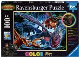 Ravensburger 13257 - Dragon The hidden World, Leuchtende Drachen, Puzzle, Kinderpuzzle, 100 Teile XXL