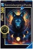 Ravensburger 13970 - Leuchtender Wolf, Puzzle, 500 Teile