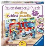 Ravensburger 05613 - My first outdoor puzzles, Feuerwehr, Draußen Puzzle, 12 Teile