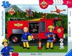 Ravensburger 06169 - Fireman Sam, Rettung durch Sam, Rahmenpuzzle mit Steckteilen, Puzzle, 8 Teile