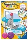 Ravensburger 28465 - Malen nach Zahlen, Delfin mit Stickerbogen