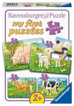 Ravensburger 07077 - My first puzzles, Unsere Lieblingstiere, Puzzle, 2,4,6,8 Teile