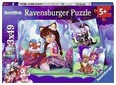 Ravensburger 08061 - Die wundervolle Welt der Enchantimals, Puzzle, Kinderpuzzle, 3x49 Teile