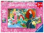 Ravensburger 07620 - Disney, In der Welt der Disney Prinzessinnen, Puzzle 2x12 Teile