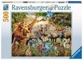Ravensburger 14809 - Am Wasserloch, Puzzle, 500 Teile