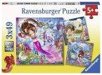 Ravensburger 08063 - Bezaubernde Meerjungfrauen, Puzzle, Kinderpuzzle, 3x49 Teile