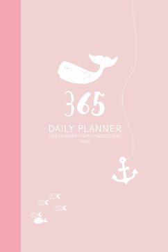 Rosa Terminkalender ohne Datum   Hochwertiger 365 Tage Terminplaner für 2021. 2 Tage auf 1 Seite. Zeitloser Wochenplaner - Wirth, Lisa