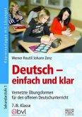 Deutsch - einfach und klar 7./8. Klasse