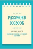 Password Logbook: Organizer for Email and Internet Password Logbook/Password Notepad/Password Keeper/Website Notepad