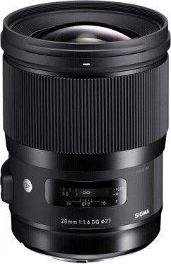Sigma 1,4/28 DG HSM Art N/AF Objektiv für Nikon (77 mm Filtergewinde, Vollformat Sensor)