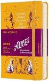 Moleskine 12 Monate Tageskalender - Alice im Wunderland 2020 Pocket/A6, 1 Tag = 1 Seite, Fester Einband, Gelb