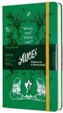 Moleskine 12 Monate Tageskalender - Alice im Wunderland 2020 Large/A5, 1 Tag = 1 Seite, Fester Einband, Grün