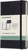 Moleskine 12 Monate Wochenkalender Deutsch 2020 Pocket/A6, Horizontal, Schwarz