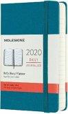 Moleskine 12 Monate Tageskalender 2020 Pocket/A6, 1 Tag = 1 Seite, Fester Einband, Magnetgrün