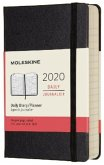 Moleskine 12 Monate Tageskalender 2020 Pocket/A6, 1 Tag = 1 Seite, Fester Einband, Schwarz