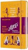 Moleskine 12 Monate Wochen Notizkalender - Alice im Wunderland 2020 Pocket/A6, 1 Wo = 1 Seite, Liniert, Fester Einband, Gelb