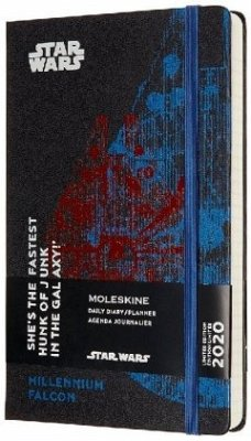Moleskine 12 Monate Tageskalender - Star Wars 2020 Large/A5, 1 Tag = 1 Seite, Fester Einband, Falke