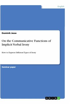 On the Communicative Functions of Implicit Verbal Irony