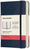 Moleskine 12 Monate Tageskalender 2020 Pocket/A6, 1 Tag = 1 Seite, Fester Einband, Saphir