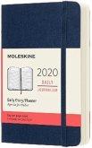 Moleskine 12 Monate Tageskalender 2020 Pocket/A6, 1 Tag = 1 Seite, Weicher Einband, Saphir
