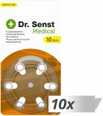 10x6 Dr. Senst Medical Hörgeräte Batterien Typ 10 70510