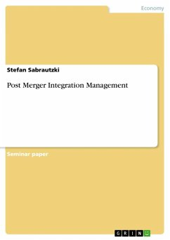 Post Merger Integration Management (eBook, ePUB) - Sabrautzki, Stefan