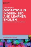 Quotation in Indigenised and Learner English (eBook, ePUB)