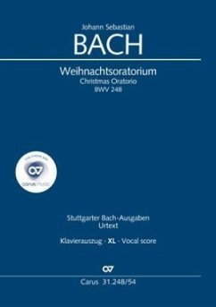 Weihnachtsoratorium (Klavierauszug XL deutsch/englisch) - Bach, Johann Sebastian