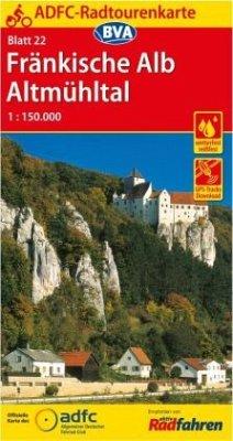 ADFC-Radtourenkarte 22 Fränkische Alb Altmühltal 1:150.000, reiß- und wetterfest, GPS-Tracks Download