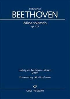 Missa solemnis (Klavierauszug XL) - Beethoven, Ludwig van