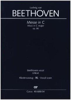 Messe in C (Klavierauszug XL) - Beethoven, Ludwig van