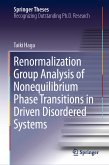 Renormalization Group Analysis of Nonequilibrium Phase Transitions in Driven Disordered Systems (eBook, PDF)