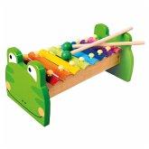 Bino 86591 - Holz, Metall Xylophon, Glockenspiel, Frosch, Bunt