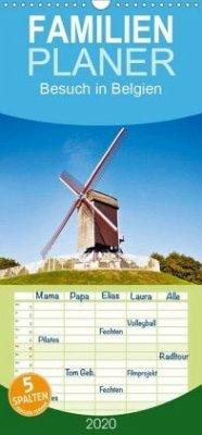 Besuch in Belgien - Familienplaner hoch (Wandkalender 2020 , 21 cm x 45 cm, hoch)