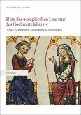 Blüte der europäischen Literatur des Hochmittelalters