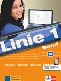 Linie 1 Beruf B2. Kurs- und Übungsbuch mit Audios